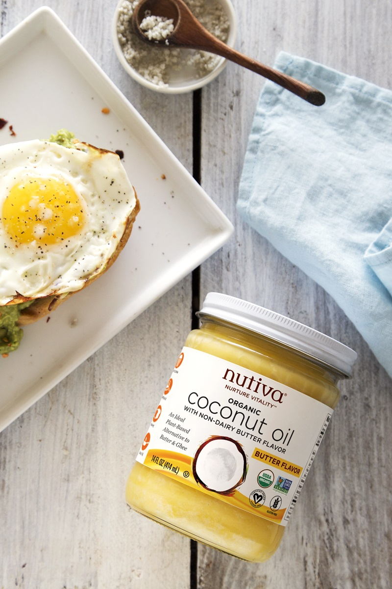 Nutiva Butter Flavor Coconut Oil Review and Info - ingredients, sourcing, ratings, and more for this dairy-free, organic, ghee alternative