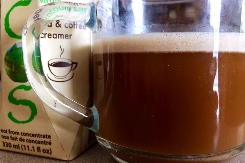 The Guide to Dairy-Free Coffee Creamer: All vegan-friendly, gluten-free, and soy-free options (ECOS Natural Coconut Creamer pictured)