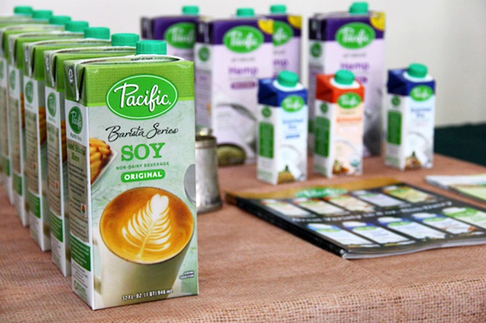 The Guide to Dairy-Free Coffee Creamer: vegan-friendly and many soy-free options! (Pacific Barista Series pictured)