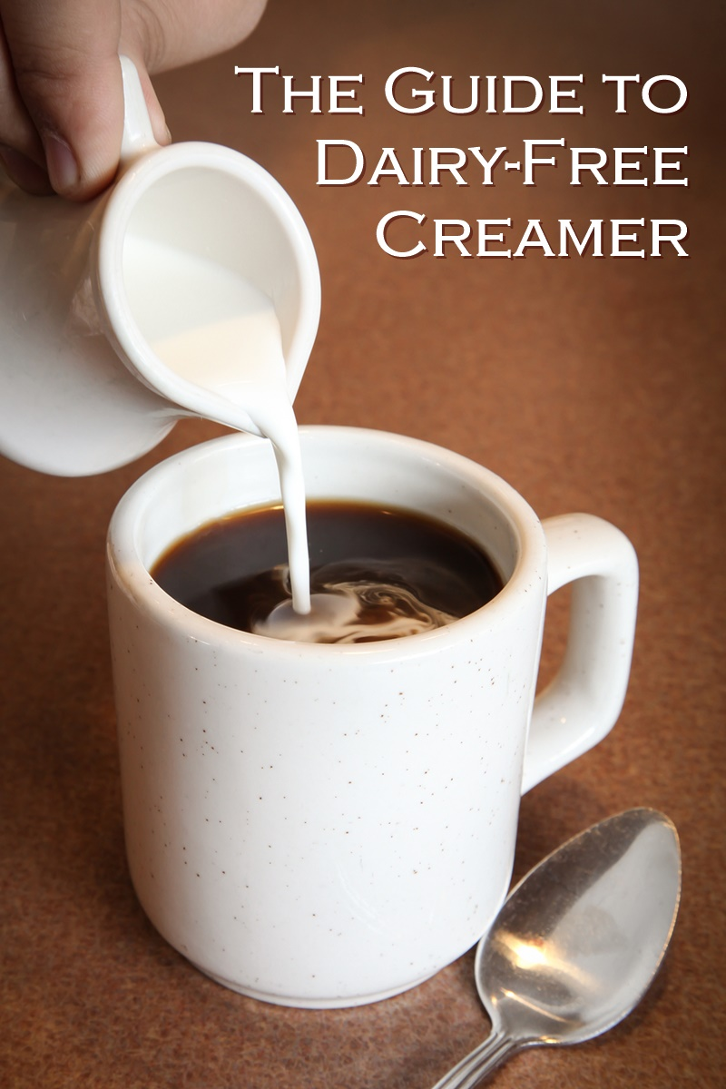 The Guide to Dairy Free Coffee Creamer - so many alternatives and brands to choose from! Vegan-friendly, gluten-free and many allergy-friendly options.