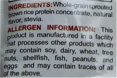 Food Allergy Labels - Milk