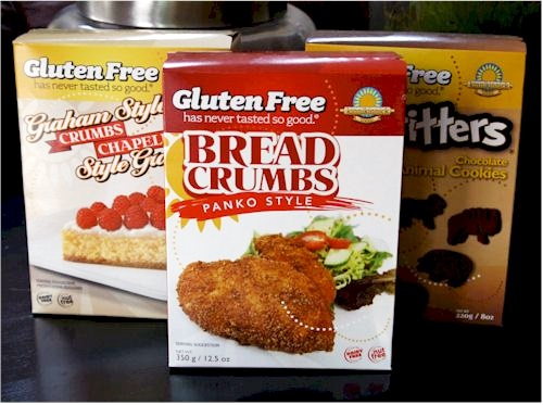 Kinnikinnick Gluten Free Crumbs - Dairy-free, Nut-free Panko-Style Bread Crumbs and Graham-Style Cracker Crumbs for cooking and baking needs!