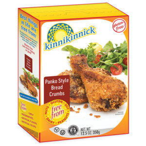 Kinnikinnick Gluten-Free Crumbs Reviews and Info - dairy-free, soy-free, nut-free, vegan Panko Breadcrumbs, Graham-style Cracker Crumbs and Chocolate Cookie Crumbs