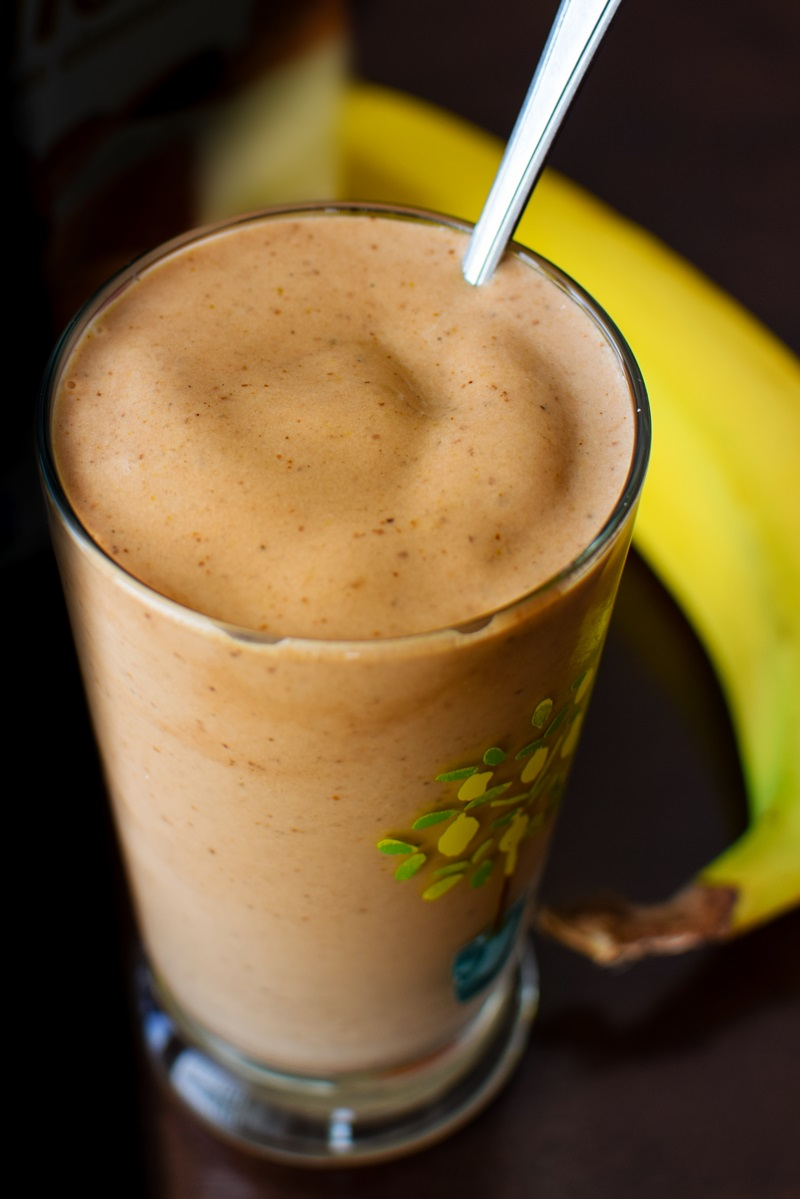 """Thick Mexican Chocolate Smoothie Recipe worthy of Healthy """"Milkshake"""" Status - dairy-free, gluten-free, soy-free, plant-based, and vegan with sweetener and no added sugar options."""