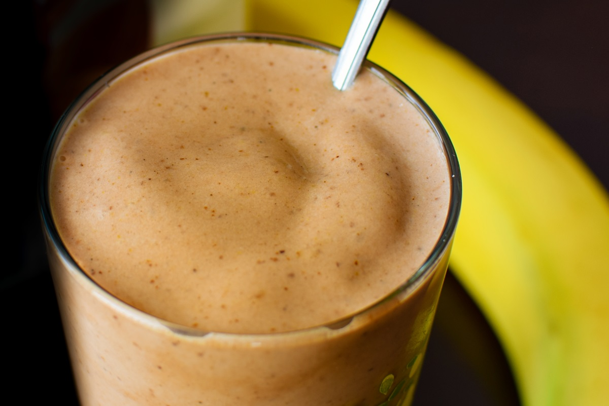 "Thick Mexican Chocolate Smoothie Recipe worthy of Healthy ""Milkshake"" Status - dairy-free, gluten-free, soy-free, plant-based, and vegan with sweetener and no added sugar options."