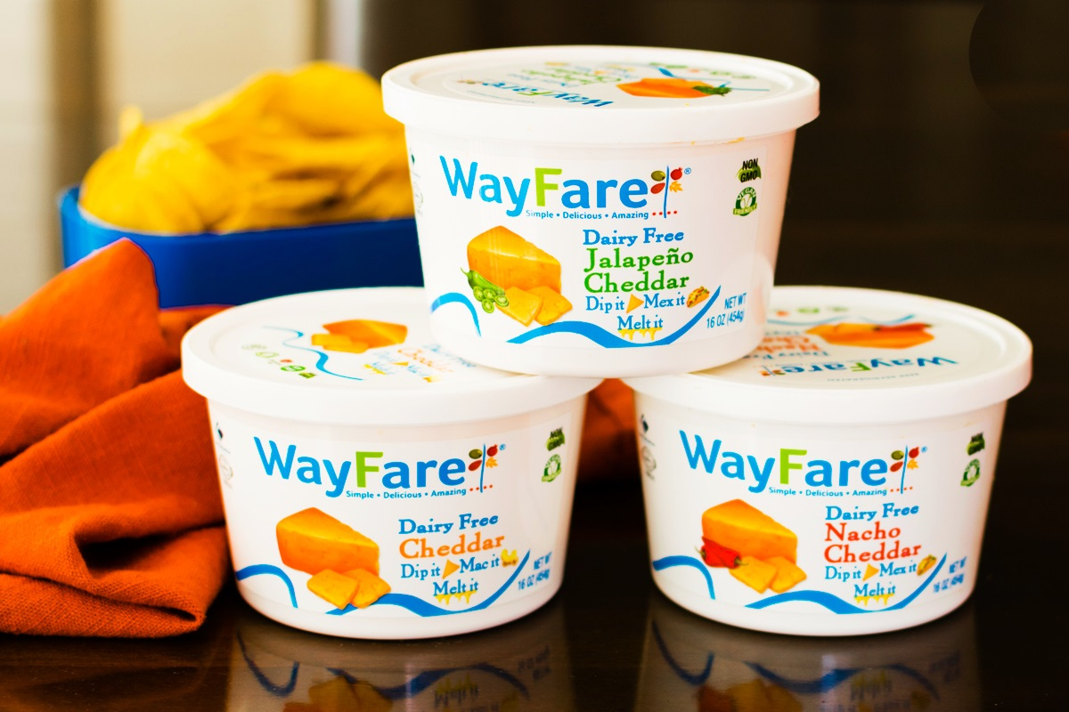 Wayfare Dairy Free Cheese Review - Cheddar-Style Tubs that taste like Velveeta! Vegan, nut-free, soy-free