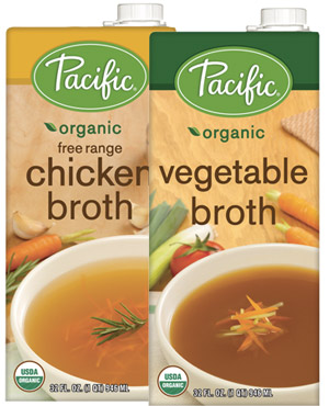 Pacific Foods Broths - available in chicken, beef, vegetable, mushroom, and now in bone broths, these broths are made with high quality ingredients and no unnecessary additives!