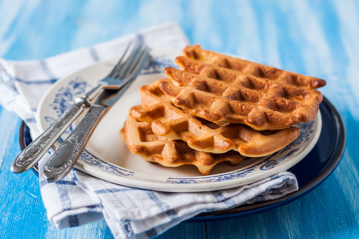 Vegan Molasses Yeast Waffles Recipe - a healthier popular waffle party recipe. Egg-free, dairy-free, nut-free, soy-free.