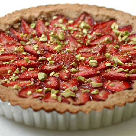 Vegan Strawberry Tart with Spelt Crust