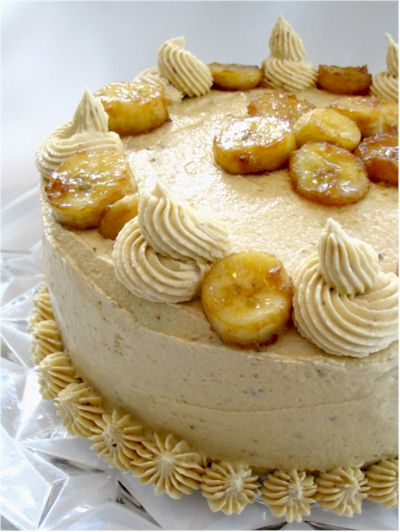 Bananas Foster Cake from My Sweet Vegan