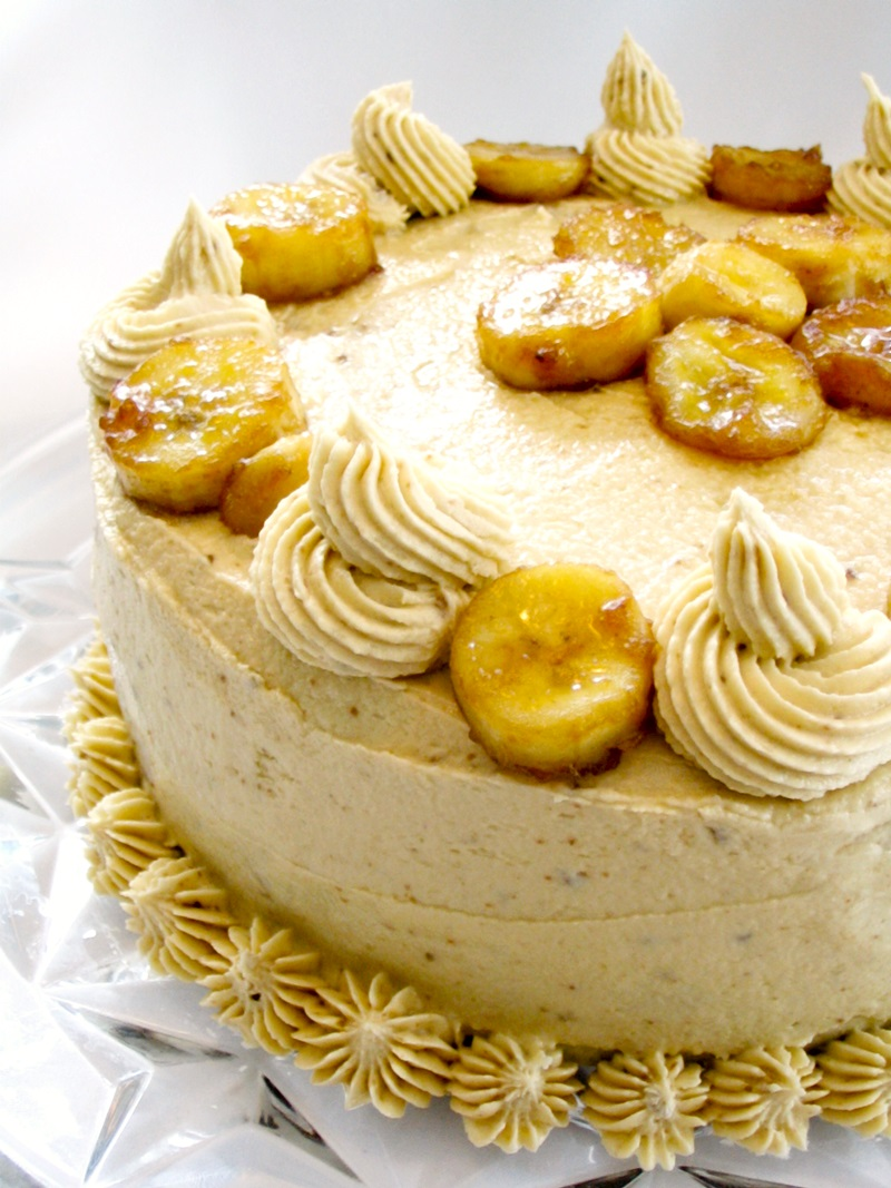 Vegan Bananas Foster Cake Recipe