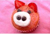 Strawberry Pig Muffins - Dairy-Free