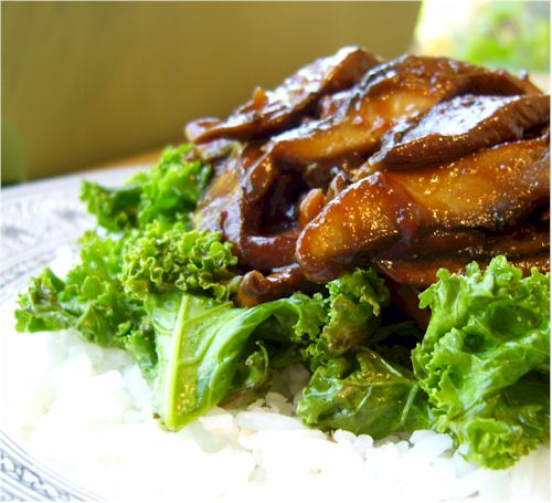 Portobello Sandwiches with Smokin' Chipotle BBQ Sauce - meaty mushrooms smothered in homemade spicy barbecue sauce. Meat-free vegan, dairy-free, optionally gluten-free meal.