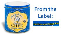 Ghee labeled as casein-free