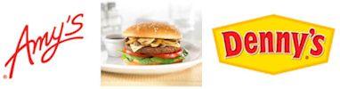 Amy's Veggie Burger at Denny's