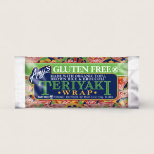 Amy's Vegan Frozen Burritos & Wraps Reviews and Info. Over a dozen dairy-free varieties, with gluten-free and soy-free options. Pictured: Teriyaki Wrap