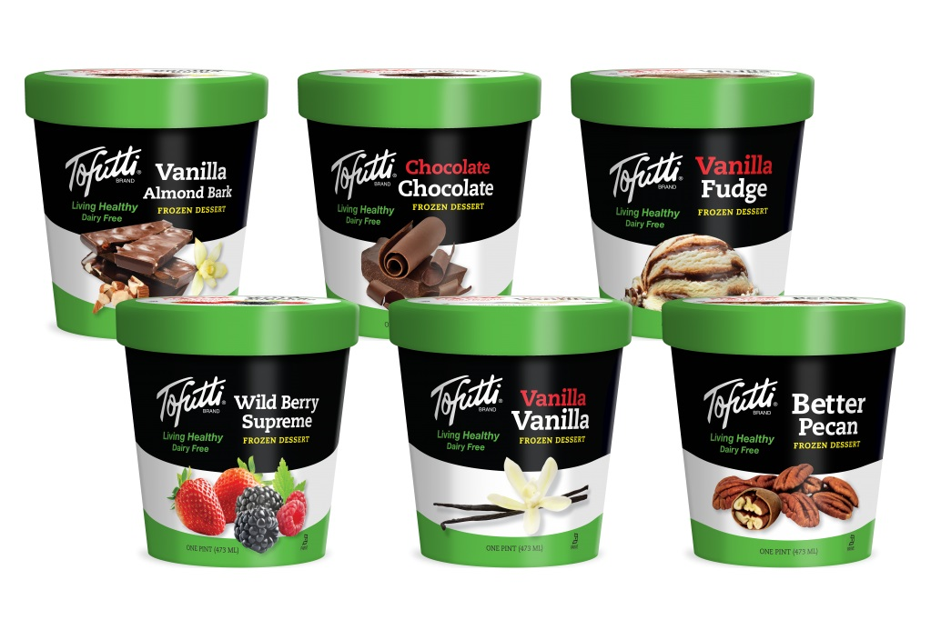 Tofutti Dairy-Free Ice Cream Reviews and Info - Vegan, Soy-Based, Classic. Pictured: all flavors