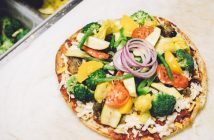 Pizza Research Institute in Eugene, OR is all vegetarian with abundant housemade vegan pizza, appetizer, and salad options