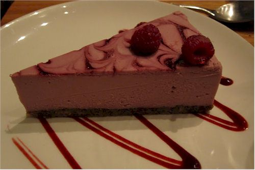 The Plant Dairy-Free Raw Raspberry Cheesecake