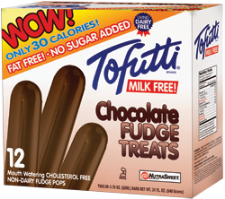 Tofutti Ice Cream Bars Reviews and Information - All Dairy-Free, Nut-Free, Vegan and Kosher Parve, with Sugar-free Options. Pictured: Sugar-Free Fudgesicles
