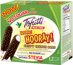 Tofutti Ice Cream Bars Reviews and Information - All Dairy-Free, Nut-Free, Vegan and Kosher Parve, with Sugar-free Options. Pictured: Sugar-Free Chocolate Crunch Bars (Hooray, Hooray)