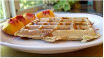 Vegan Wheat Oat Waffles