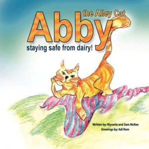 The Best Dairy-Free Children's Books for Food Allergies & Beyond (pictured - Abby the Alley Cat)