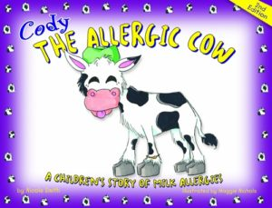 The Best Dairy-Free Children's Books for Food Allergies & Beyond (pictured - Cody the Allergic Cow)