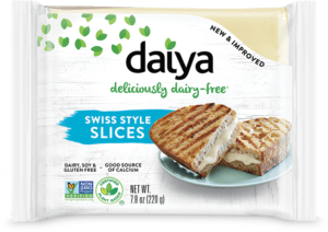 Daiya Dairy-Free Cheese Slices Reviews and Info - New Formula, New Shape! Vegan, gluten-free, allergy-friendly.