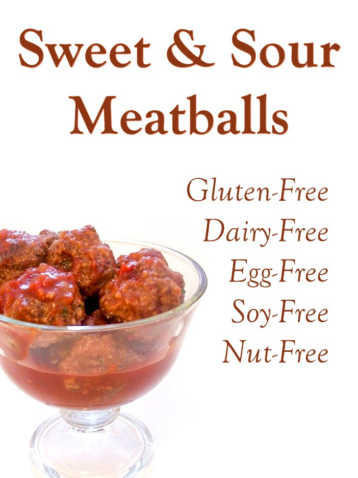 Sweet & Sour Gluten-Free Meatballs Recipe (also Dairy-Free, Egg-Free, Nut-Free, and Soy-Free)