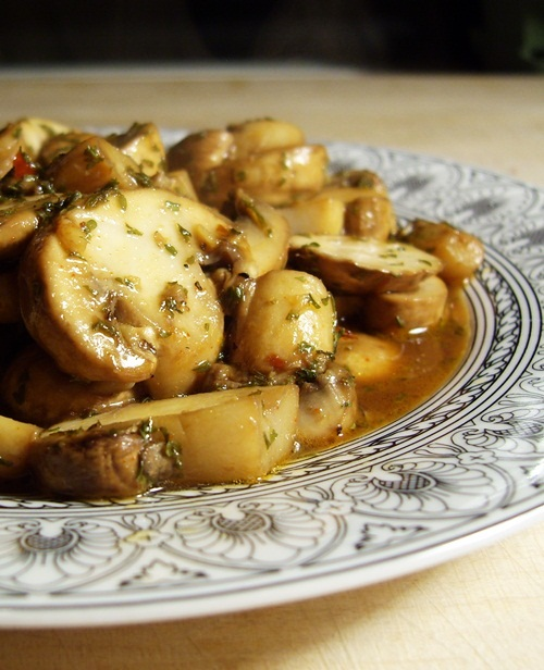 Sherried Mushrooms - A Delicious and Elegant Dairy-Free Appetizer