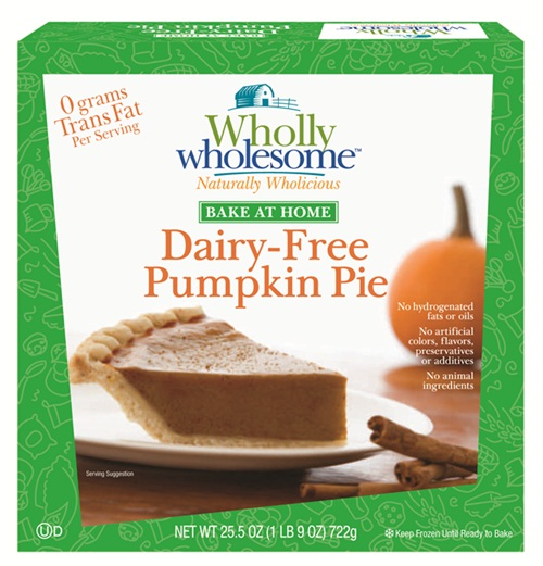 Wholly Wholesome Frozen Dairy-Free Pumpkin Pie