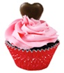 Divvies Valentine's Day Cupcakes - dairy-free, egg-free, nut-free, vegan