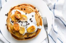 Dairy-Free Banana Chocolate Chip Pancakes Recipe