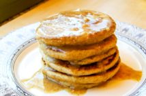 Fluffy Flourless Almond Oat Pancakes Recipe - naturally dairy-free, gluten-free, healthy, and delicious!