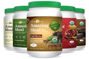 Amazing Grass Amazing Meal Nutritional Supplement - dairy-free, soy-free, vegan protein, greens, vitamins, minerals, probiotics and enzymes