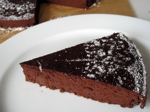 Amy Green's Flourless Chocolate Torte with Sugar-Free Powdered Sugar