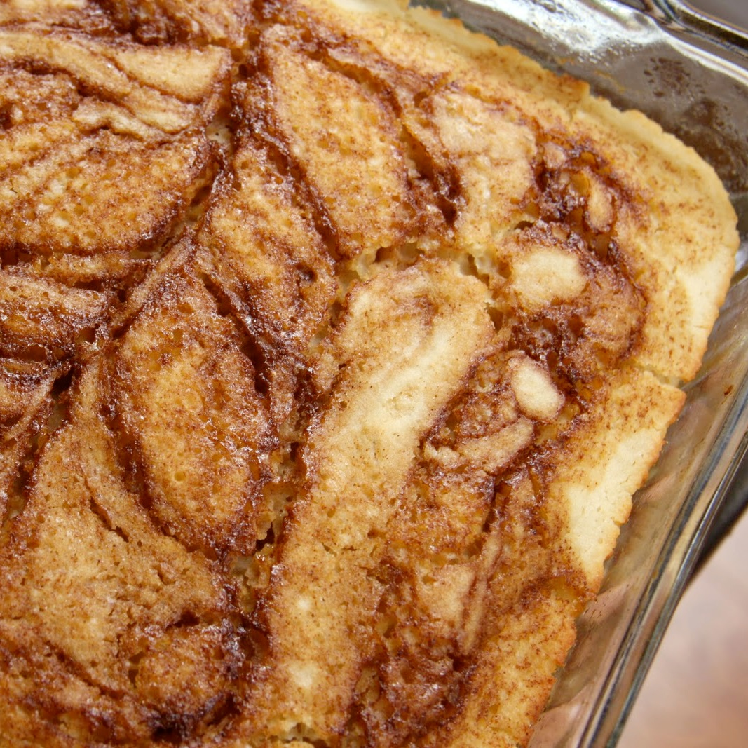 The cinnamon bun bread pictured is gluten-free, believe it or not! But ...