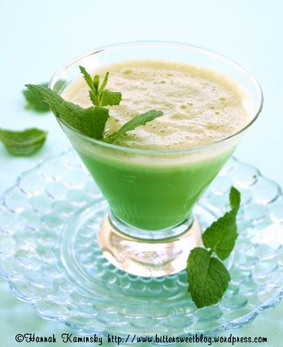 Vegan and Dairy-Free Mint Matcha Smoothie (Shamrock Shake / Green Tea Smoothie)