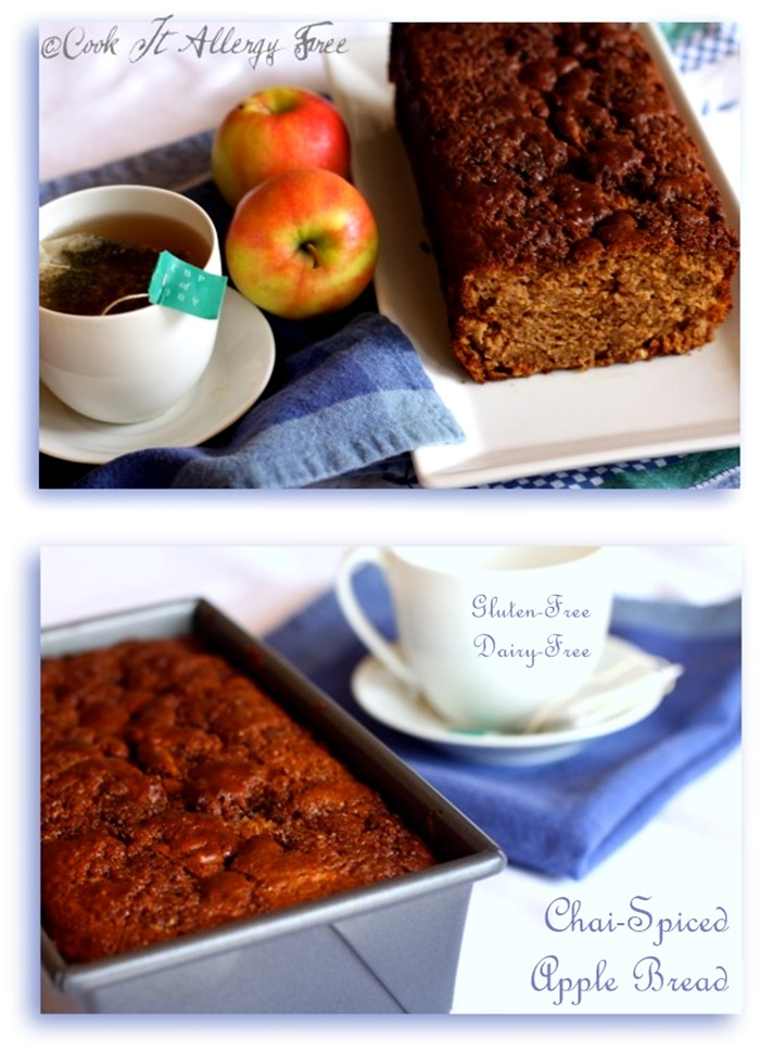 Gluten-Free Chai Spice Apple Bread Recipe - also dairy-free, optionally nut-free