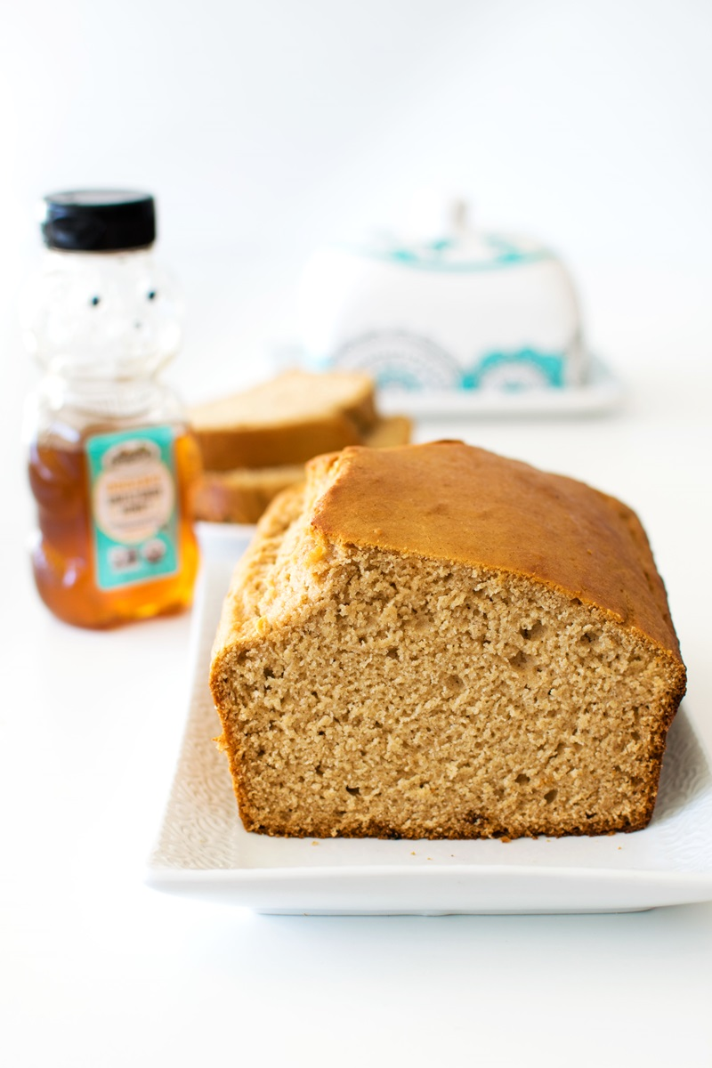 Honey Quick Bread Recipe from Grandma made with Dairy-Free Buttermilk. Naturally egg-free with vegan option!