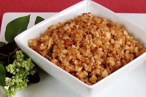 Apple-Pecan Vegan Haroset for Passover