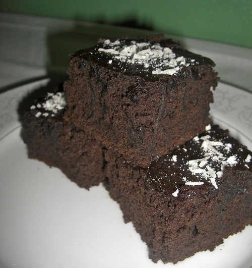 Chocolate Banana Brownies with Coconut Butter - Go Dairy Free