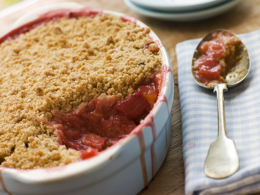 Strawberry Rhubarb Crumble Recipe - Butter-Less, Dairy-Free, Wholesome ...