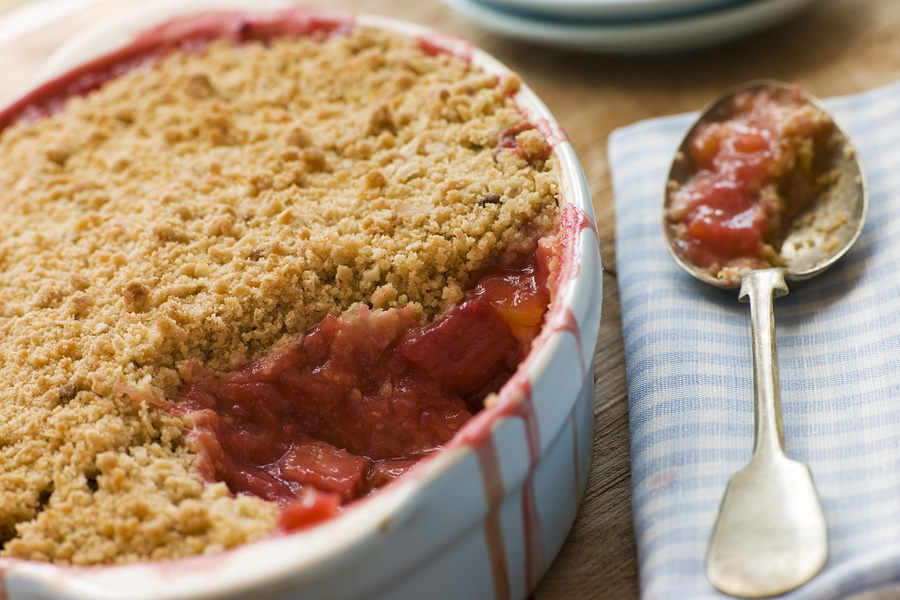 Strawberry Rhubarb Crumble Recipe - Butter-Less, Dairy-Free, Wholesome and Your Choice of Gluten-Free or Not!