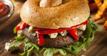 BBQ Portobello Mushroom Burgers Recipe - a marinated and grilled vegan main for barbecues