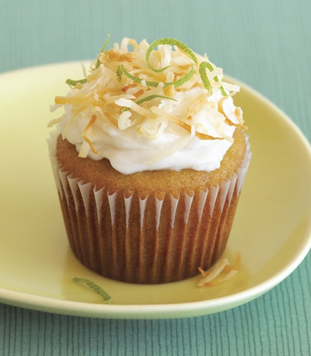 Grain-Free Lime Cupcakes with Vegan Coconut Frosting from Gluten-Free Cupcakes (Dairy-Free Recipe)