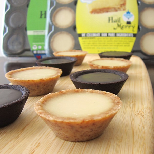 Hail Merry Miracle Tarts - MInis in Lemon and Chocolate (Raw, Vegan, Dairy-Free, 100 Calories Each)