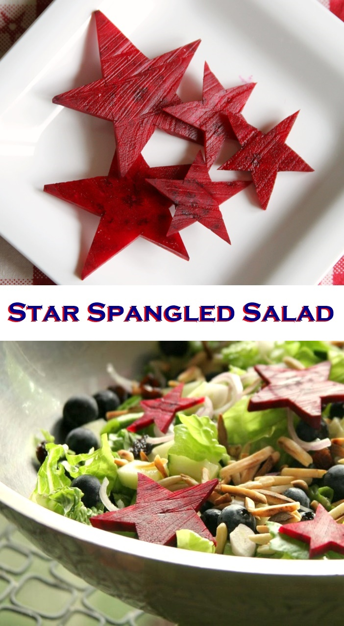 Star Spangled Salad Recipe - Add this healthy salad to your 4th of July spread! It's versatile for any diet need, from vegan to paleo!