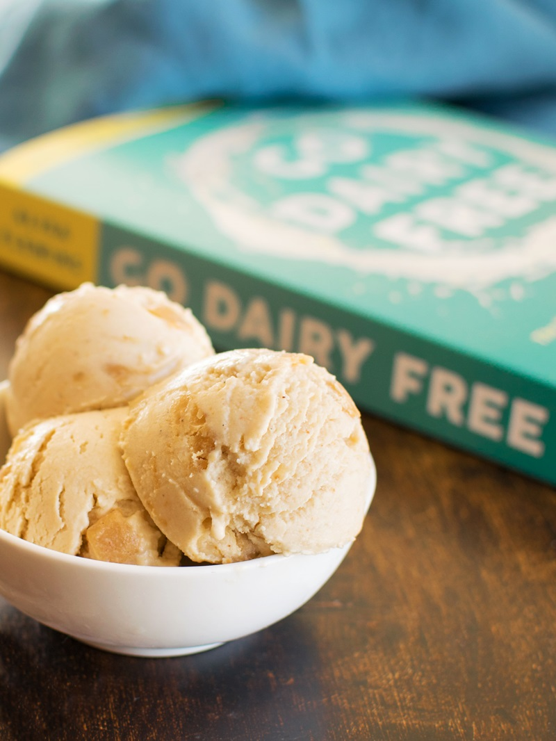 Rich Dairy-Free Peanut Butter Ice Cream Recipe with Easy Homemade Peanut Butter Chunks. Also vegan, gluten-free, and soy-free, with peanut-free option.
